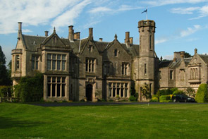 Photo of the exterior of The Roxburghe Hotel in the Scottish Borders