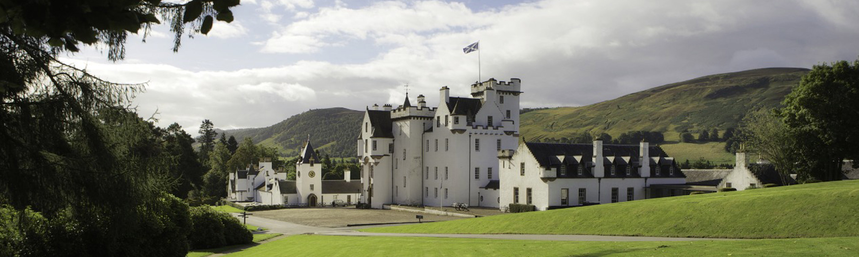 Photo of the exterior of Blair Castle in Highland Perthshire