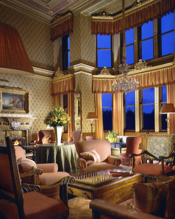 Photo of sumptuous double height drawing room in Inverlochy Castle